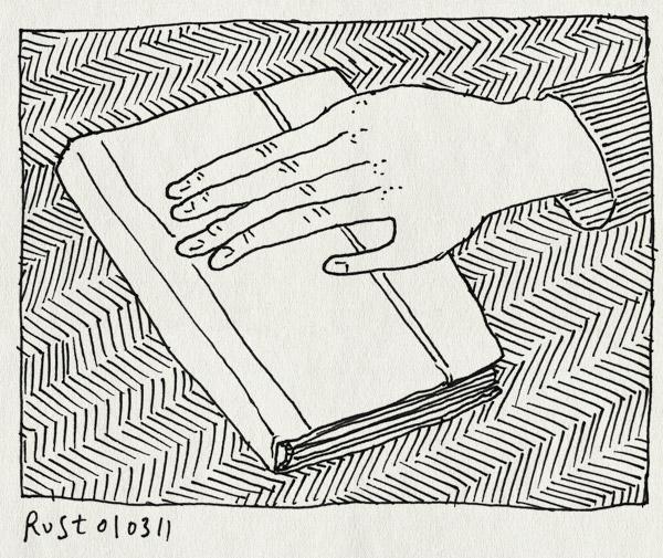 tekening 1383, boek, elkedag, hand, handopleggen, meta, tekenen, zweren