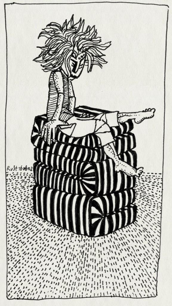 tekening 14, matras, matrassen, stapel, vormen