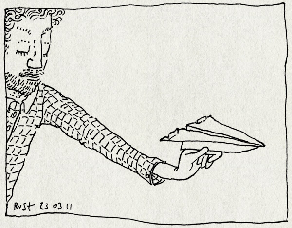 tekening 1405, gooie, spelen, stef, stuntpiloot. papier, vliegtuig