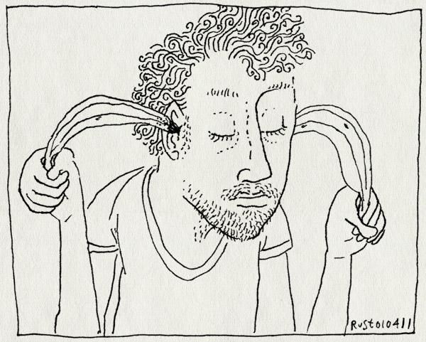 tekening 1414, bananen, oor