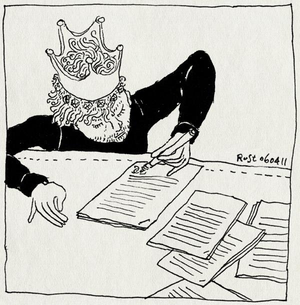 tekening 1419, kroon, papieren, recensiekoning, tekenen, vof