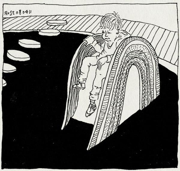 tekening 1421, glijbaan, groot, klein, midas, oosterpark