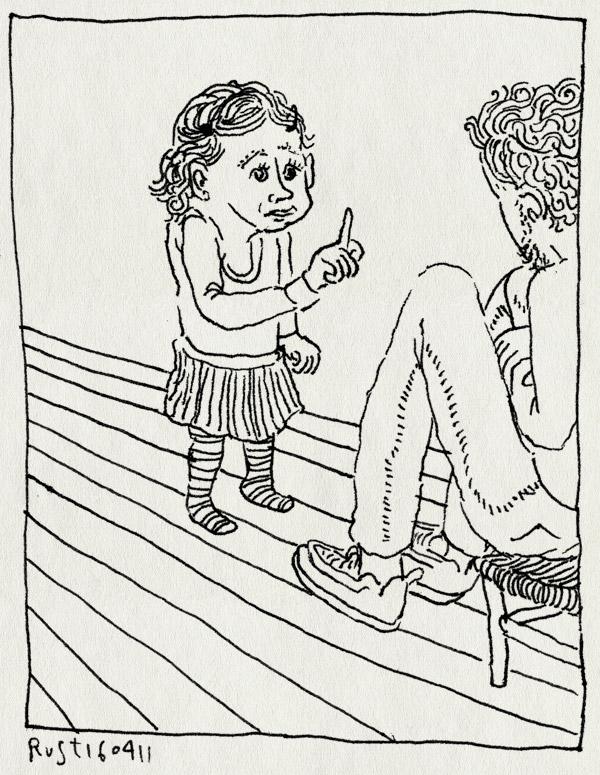 tekening 1428, alwine, moedertje, rollenspel, spelen, stoeltje