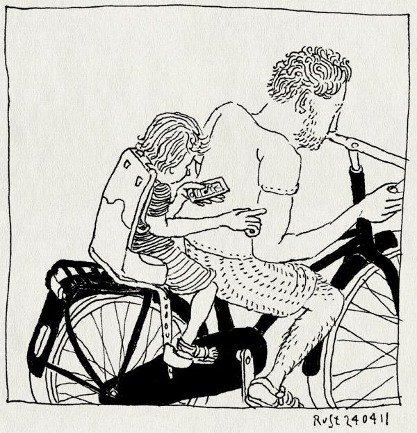 tekening 1436, achterop, ei, ei2011, fiets, layar, midas, navigatie, navigator, zoeken