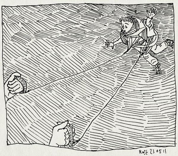 tekening 1465, knoop, midas, vlieger, vliegeren