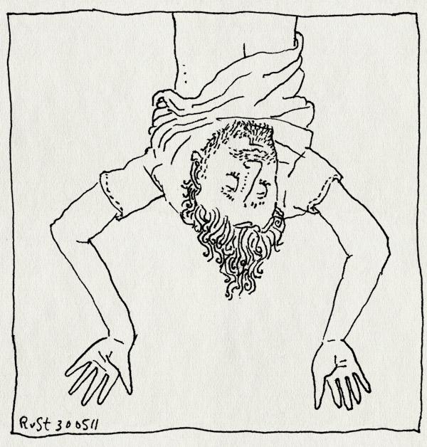 tekening 1472, hangen, ondersteboven, op de kop