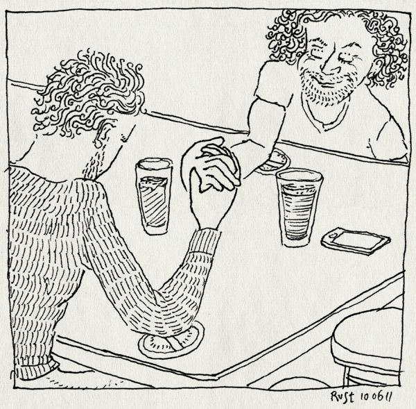 tekening 1483, armpjedrukken, berkhout, bier, iphone, krullen, mark, markies