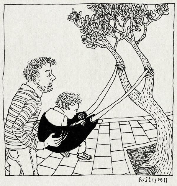 tekening 1486, boom, katapult, midas, plein, speelplein, speeltuin, Y