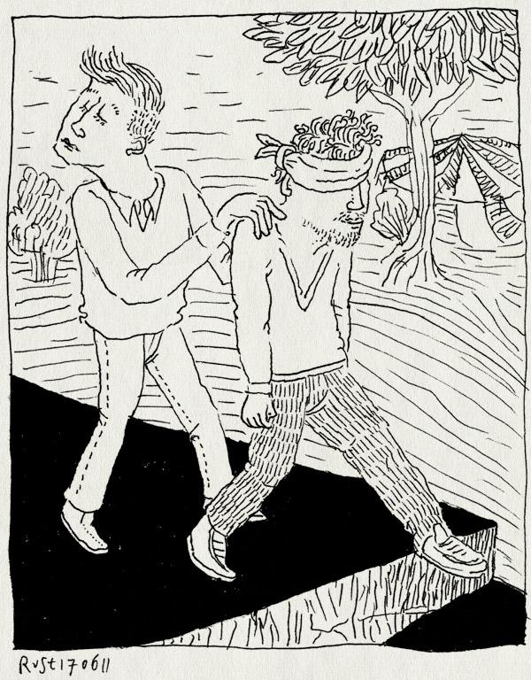 tekening 1490, #rbf11, maarn, peter van soest, reizendboekfestival, tussentijd