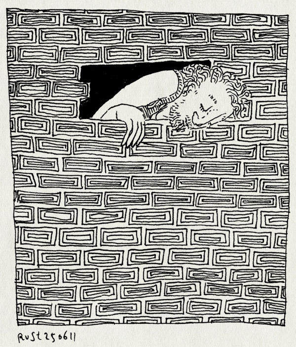 tekening 1498, discovery, jailbreak, kijken, steen, televisie, tv, uit