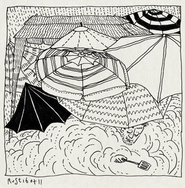 tekening 1519, afdak, barbecue, bbq, emil, erika, fun, gezellig, heerhugowaard, nathan, paraplu, parasol, partytent, regen, rook