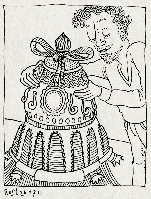 tekening 1529, ding, frank, hommage, jim woodring