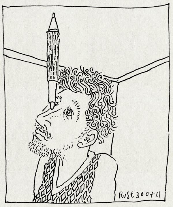 tekening 1533, balanceren, neus, wacompen, werk