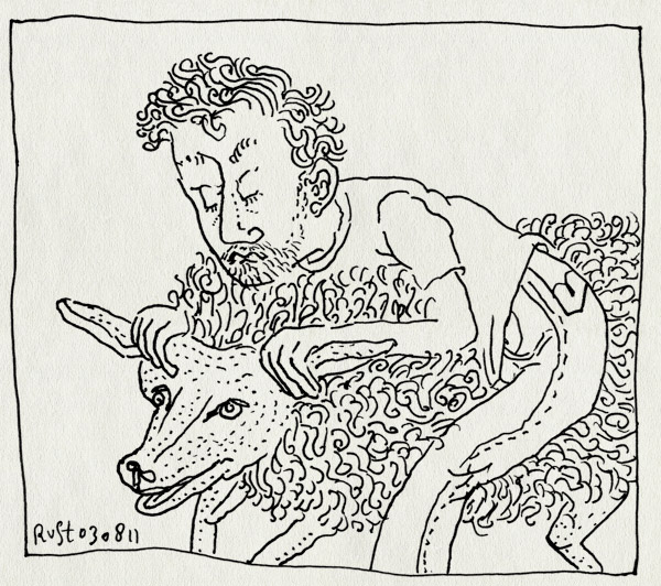 tekening 1537, jan, recensiekoning, schaap, tekening, volkskrant