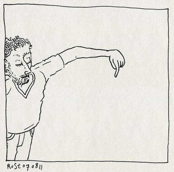 tekening 1541, foto, louvre, pei, pyramide, vinger