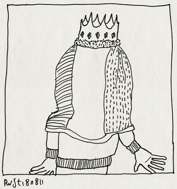 tekening 1552, deken, kroon, recensiekoning