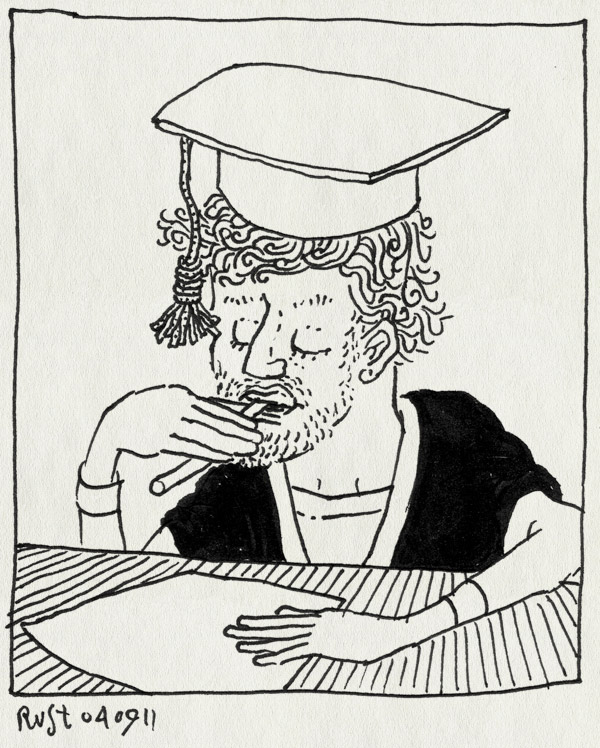 tekening 1569, bachelor, contract, hat, tekenen