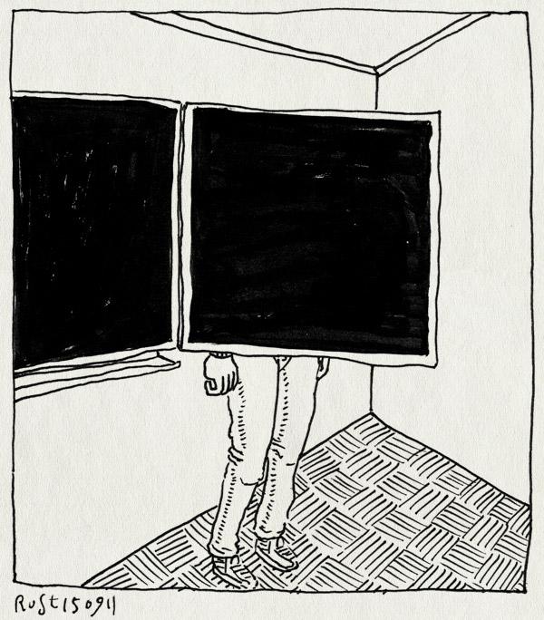 tekening 1575, achter, schoolbord, verschuilen