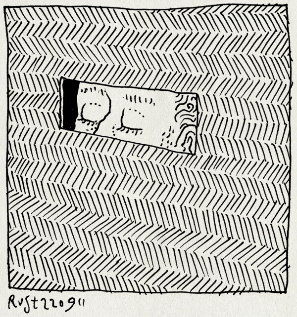 tekening 1582, codewoord, gluren, kijken, muur, rechthoek, spleet, wachtwoord