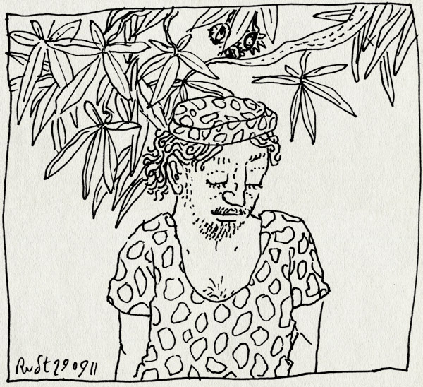 tekening 1589, etentje, kastagne, nh49, restaurant, zuidafrika, zuidafrikaans
