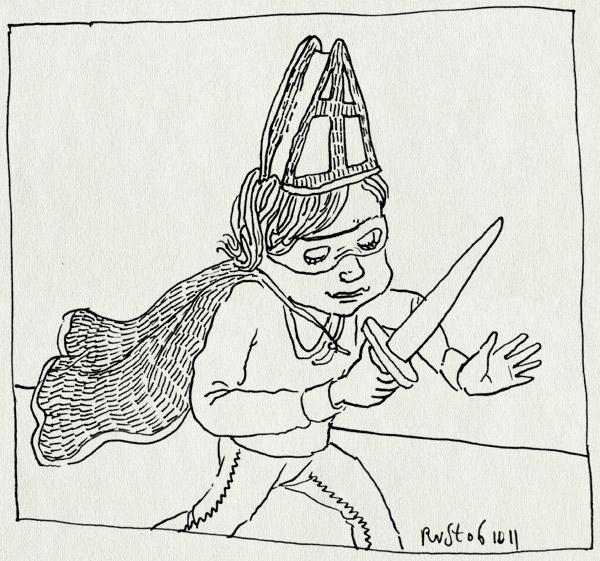 tekening 1596, cape, masker, midas, ridder, rover, sinterklaas, zwaard