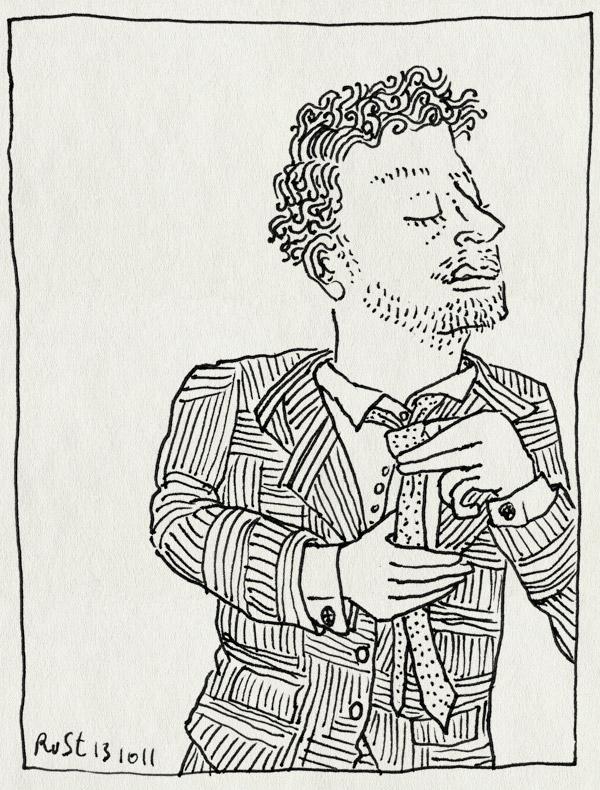 tekening 1603, das, pak, strikken, stropdas