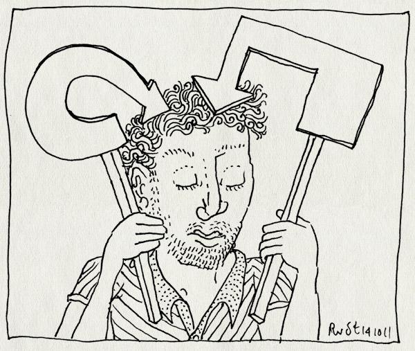 tekening 1604, bordjes, pijlen