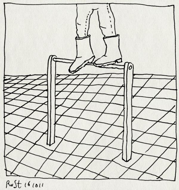 tekening 1606, alwine, balanceren, durfal, speeltuin