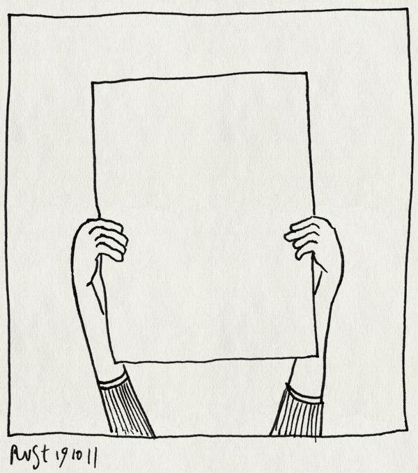 tekening 1609, handen, leeg, niks, papier, vel