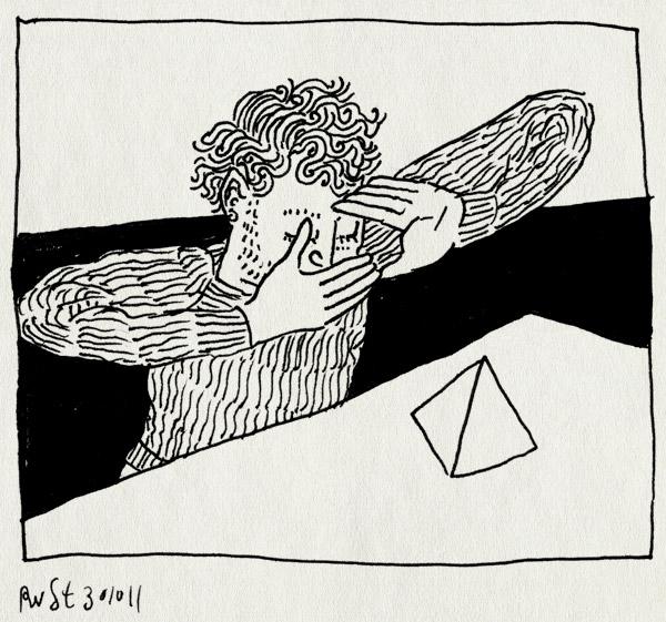 tekening 1620, driehoek, kader, kijken, piramide, vierkant
