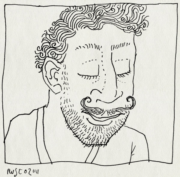 tekening 1623, baard, dali, puntsnor, snor, snorretje