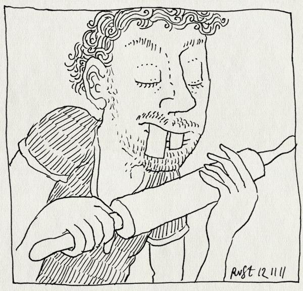 tekening 1633, deegroller, midas, taart, takel, takeltaart, tanden, verjaardag