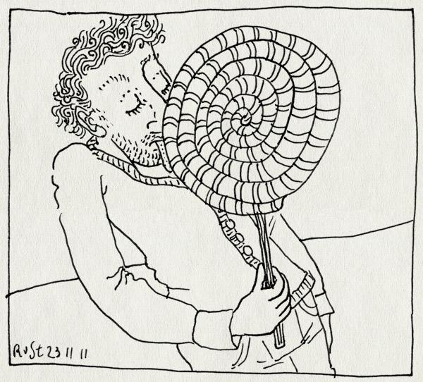 tekening 1644, gigantisch, likken, lolly
