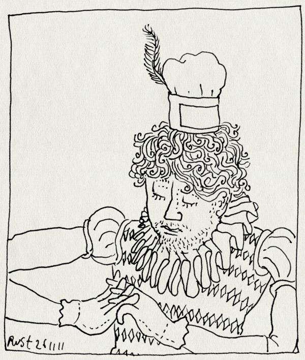 tekening 1647, kinderen, sinterklaas, verkleden, zwarte piet