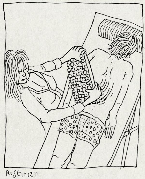 tekening 1661, chocolade, grap, leuven, martijn, massage, vrijgezellenfeest