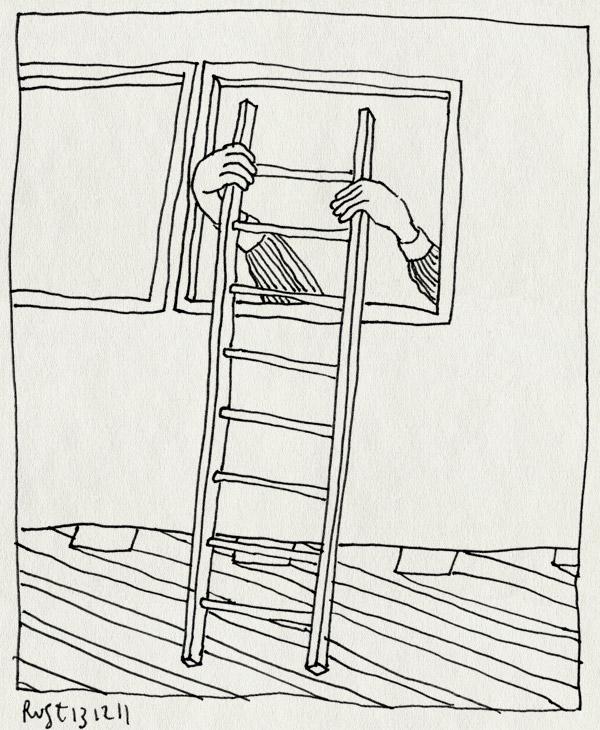 tekening 1664, 4e, 5e, alweer, ladder, nh49, trap, verhuizen