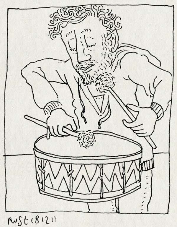 tekening 1669, filmfanfare, het zakmes, ode, trommelen
