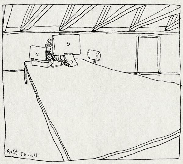 tekening 1671, burorust, groot, leeg, nh49, nieuw