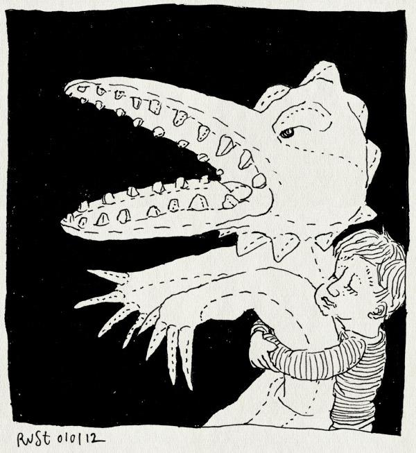 tekening 1683, eng, groot, krokodil, midas, nacht, pluche, speelgoed