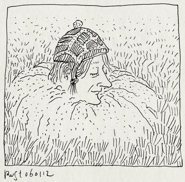tekening 1687, #widm, ijsland, mol, muts, tim, tim kamps, wieisdemol