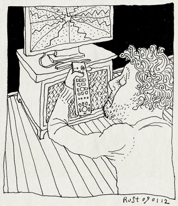tekening 1691, afstandbediening, televisie, uit