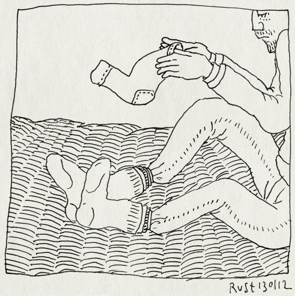 tekening 1695, kou, laagjes, sokken, voeten, winter, wintertenen