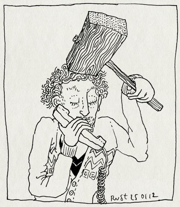 tekening 1706, bellen, hamer, killme, vreselijk
