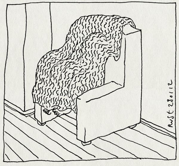 tekening 1709, alwine, bank, kleed, midas, verstoppertje, verstopplek, voetjes