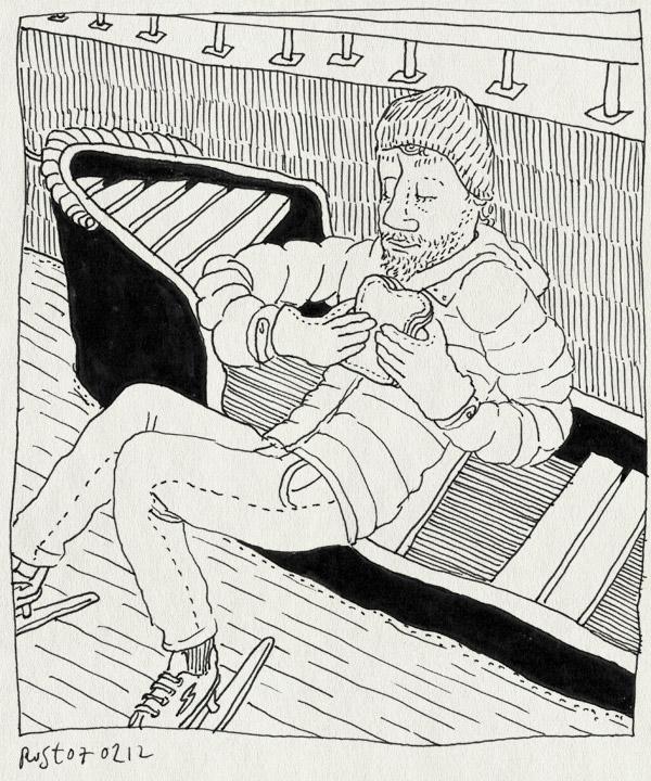 tekening 1719, amsterdam, boot, eten, grachten, keizersgracht, lunch, prinsengracht, schaatsen
