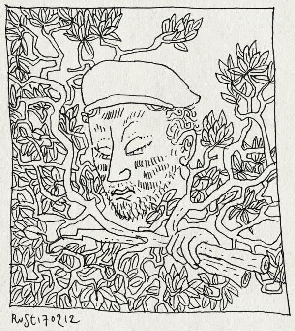 tekening 1729, affiche, bellevue, burorust, camouflage, oorlog, werk