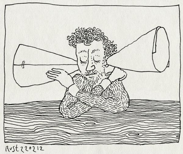 tekening 1734, horen, input, kokers, luidspreker, ontvangen, ontvanger