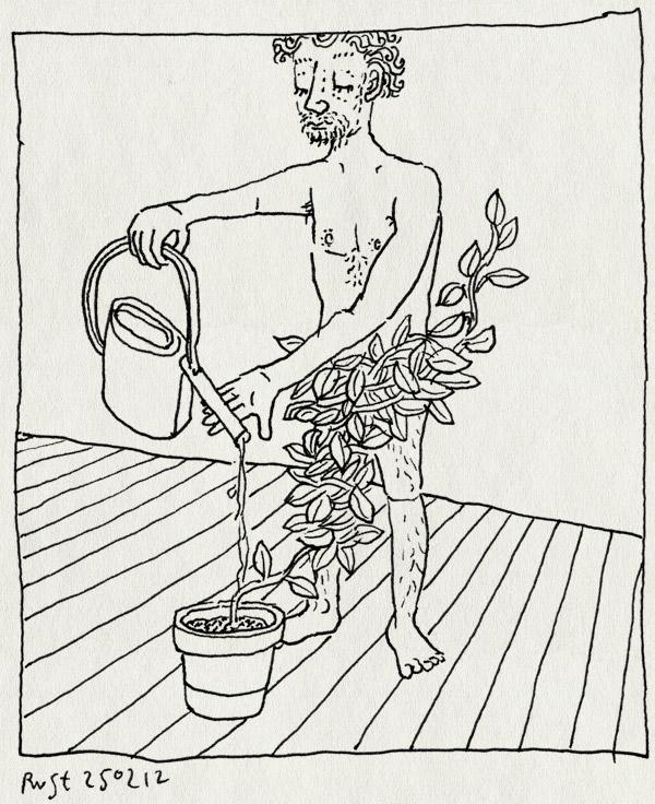tekening 1737, affiche, gieter, pieter derks, plant, van nature, voorstel