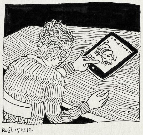 tekening 1746, bieflap, draw something, drawsome, ipad, pig, pork, tekenen, varken