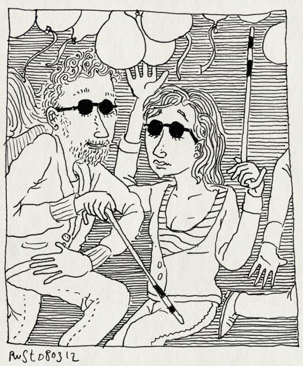tekening 1749, #widm, blind, brillen, dansen, martine, mol, molfeest, wie is de mol